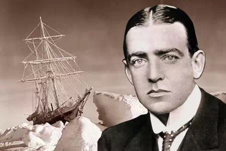 """""""坚忍号""""船长沙克尔顿,1914(背景有船).jpg"""