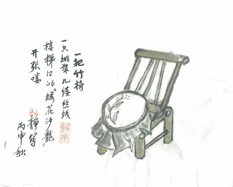 """发《上海纪实》""""西门,西门""""二(照片4)_绣花(龚静 画).jpg"""