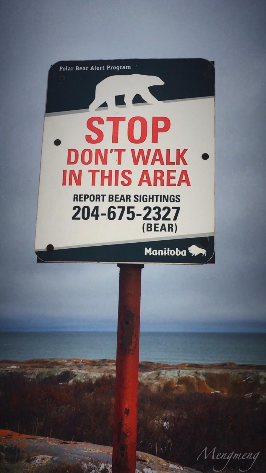 丘吉尔镇随处可见的警示牌.jpg